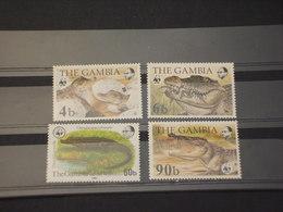 GAMBIA - 1984 WWF COCCODRILLI  4 VALORI - NUOVI(++) - Gambia (1965-...)
