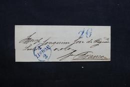 PORTUGAL - Lettre Ancienne De Lisbonne  - L 32734 - ...-1853 Préphilatélie