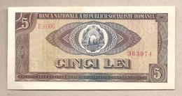 Romania - Banconota Circolata Da 5 Lei P-93a - 1966 - Romania