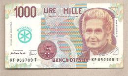 Padania - Banconota Circolata Da 1000 Lire - [ 2] 1946-… : Repubblica