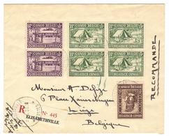 Belgisch Belgian Congo Belge 1930 Caritas On Registered Letter E''ville To Brussels - Congo Belga