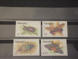 VANUATO - 1987 INSETTI  4 VALORI - NUOVI(++) - Vanuatu (1980-...)