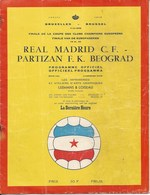 Sport Programme PR000057 - Football (Soccer Calcio): Real Madrid Vs Partizan Belgrade 1966-05-11 - Programs