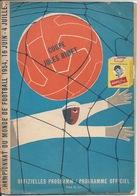 Sport Programme PR000058 - Football (Soccer Calcio): World Championships (Jules Rimet) Switzerland 1954 - Programs