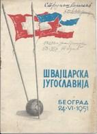 Sport Programme PR000059 - Football (Soccer Calcio): Yugoslavia Vs Switzerland 1951-06-24 - Programs