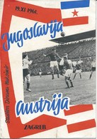 Sport Programme PR000061 - Football (Soccer Calcio): Yugoslavia Vs Austria 1964-11-19 - Programs
