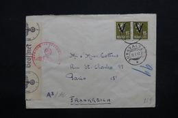 NORVÈGE - Enveloppe De Sunndalsöra Pour Paris En 1942 Avec Contrôle Postal , Affranchissement Plaisant - L 32742 - Norvège