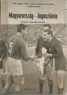 Sport Programme PR000062 - Football (Soccer Calcio): Hungary Vs Yugoslavia 1962-10-14 - Programs