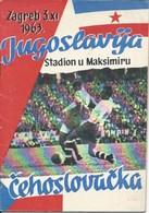 Sport Programme PR000063 - Football (Soccer Calcio): Yugoslavia Vs Czechoslovakia 1963-11-03 - Programs