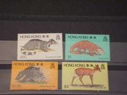HONG KONG - 1982 ANIMALI 4 VALORI - NUOVI(++) - 1997-... Regione Amministrativa Speciale Della Cina