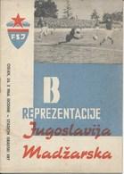 Sport Programme PR000064 - Football (Soccer Calcio): Yugoslavia Vs Hungary 1964-10-10 - Programs