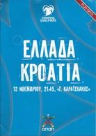Sport Programme PR000068 - Football (Soccer Calcio): Greece Vs Croatia 2017-11-12 - Programs