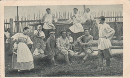 AK Russische Typen - Sonntag-Nachmittag-Vergnügen - Russen Musik Tanz - 1916 (41948) - Europa
