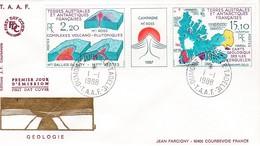 TAAF PREMIER JOUR 1988 139A Géologie 01-01-1988 Terre Adélie - FDC