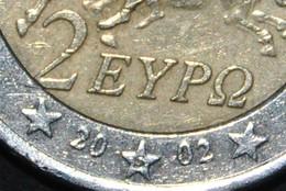 Grèce Pièce De 2 Euros Année 2002 Frappée En Finlande S Suomi Dans L'étoile - Grecia