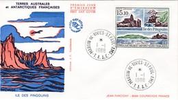 TAAF PREMIER JOUR 1988 PA 101 L'ile Des Pingouins 01-01-1988 St Paul Et Amsterdam - FDC