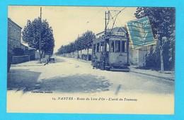 CPA NANTES Route Du Lion D'Or - L'arrêt Du Tramway 44 Loire Atlantique Tram - Nantes