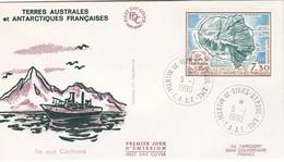 TAAF PREMIER JOUR 1990 PA110 L'ile Aux Cochons 05-01-1990 St Paul Et Amsterdam - FDC