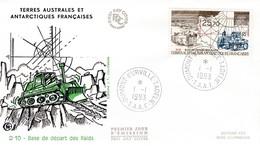 TAAF PREMIER JOUR 1993 PA127 D10 Base De Départ Des Raids 01-01-1993 Terre Adélie - FDC