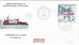 TAAF PREMIER JOUR 1993 181 Bateau L'astrolabe 01-01-1993 Terre Adélie - FDC