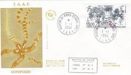 TAAF PREMIER JOUR 1994 PA129 Les Copépodes 01-01-1994 St Paul Et Amsterdam - FDC