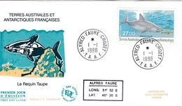 TAAF PREMIER JOUR 1998 228 Requin Taupe 01-01-1998 Crozet - FDC