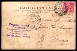 Postal Fotografico 1908. Carimbo RELOJOARIA GARANTIDA Gramophones / Joias / Relogios Rua Joao Alfredo PARÁ Brasil BRAZIL - Belém