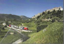 458 FG Ferrovia Del Gargano ALe 200 Fervet Località Cagnano Varano Foggia Railroad Tunel Trein Railways Treni - Stazioni Con Treni