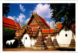 Thailand Bangkok View In Profile Of Wat Pho - Thailand
