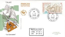 TAAF PREMIER JOUR 1998 230 Bateau Le Cancalais 01-01-1998 St Paul Et Amsterdam - FDC