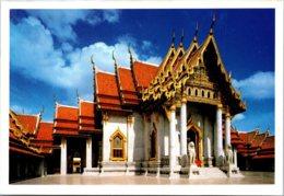 Thailand Bangkok Beautiful Back View Of Wat Benjamabophit - Thailand