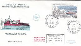 TAAF PREMIER JOUR 1999 245 Programme Geoleta 01-01-1999 Terre Adélie - FDC
