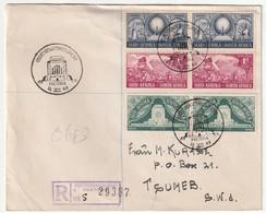 LETTRE Recommandée De Pretoria Le 16/12/1949 Pour Tsumeb (S.W.A) - África Del Sur (...-1961)