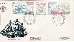 TAAF PREMIER JOUR 1990 PA113A Bateau L'Astrolabe 01-01-1990 Kerguelen - FDC