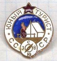 USSR / Badge / Soviet Union. RUSSIA. Tourism. Young Tourist 1970s . - Associations