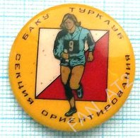 USSR / Badge / Soviet Union / Azerbaijan Tourism. Tourclub. Section Orienteering Baku 1970s - Other