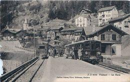 Cpa FINHAUT - La Gare - Trains - état, Voir Description - VS Valais