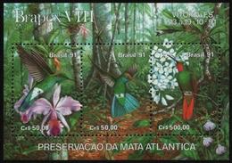 Brasilien 1991 - Mi-Nr. Block 86 ** - MNH - Vögel / Birds - Unused Stamps