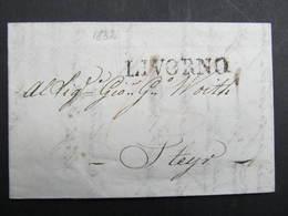 BRIEF Livorno - Steyr 1832 // D*38950 - 1. ...-1850 Prefilatelia