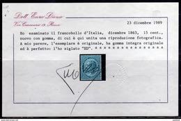ITALIA REGNO ITALY KINGDOM 1933 TRITTICO SERVIZIO DI STATO MNH OTTIMA CENTRATURA DOPPIO CERTIFICATO - 1900-44 Vittorio Emanuele III