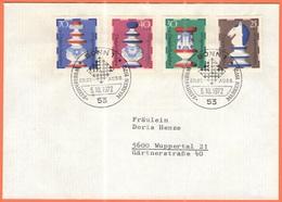 GERMANIA - GERMANY - Deutschland - ALLEMAGNE - 1972 - 4 X Wohlfahrts, Schachfiguren, Chess, Scacchi - Bonn - FDC - Viagg - [7] Federal Republic