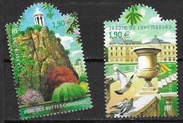 France 2003 N° 3606/3607 Neufs Jardins De France Sous Faciale - France