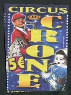 """Publicité Flyer """"Cirque Circus Crone Benzini / Auvers-sur-Oise"""" - Clown - Programs"""