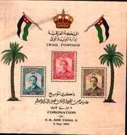 5484bis ) Iraq Stamps 1953 Sheet Coronation King Faisal II-BF N. 3-MLH* - Iraq