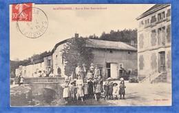 CPA - MONTPLONNE - Rue Et Pont Nant Le Grand - Paquet éditeur - Enfant Garçon Fille Chapeau Mode Bar Le Duc - France