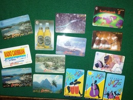 14 Different Phonecards From St Lucia - St. Lucia