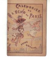 """Très Petit Calendrier  De"""" L'écho De Paris """" 1891 Ouvrant  Illustration Intérieure Et Extérieure   L. Métivet. - Kalenders"""