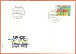 SVIZZERA - SUISSE - HELVETIA - 1989 - Ferrovia Retica - BERN - FDC - FDC