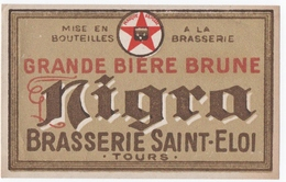 ETIQUETTE. TOURS (37) BIERE. BRASSERIE SAINT-ELOI. GRANDE BIERE BRUNE. MIGRA. - Bière
