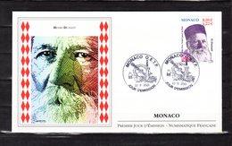 """"""" HENRY DUNANT """" Sur Enveloppe 1er Jour De MONACO De 2001. N° YT 2315. FDC - Henry Dunant"""